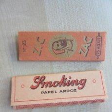 Papel de fumar: DOS LIBRITOS DE PAPEL DE FUMAR ANTIGUOS SMOKING Y ZIG ZAG. Lote 58096964