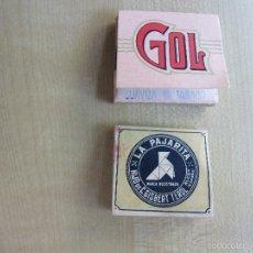 Papel de fumar: DOS LIBRITOS DE PAPEL DE FUMAR ANTIGUOS LA PAJARITA Y GOL. Lote 58097164