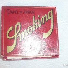 Papel de fumar: PAPEL DE FUMAR SMOKING -PAPEL DE ARROZ. Lote 59434890