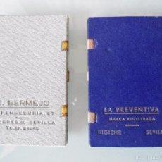 Papel de fumar: ANTIGUAS CARTERILLAS DE CARTON PARA PAPEL DE FUMAR CON PUBLICIDAD DE COMERCIOS DE SEVILLA. Lote 61226291