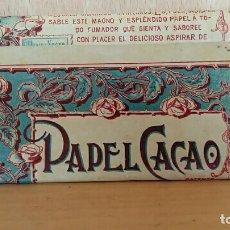 Papel de fumar: LIBRILLO DE PAPEL DE FUMAR. PAPEL CACAO. Lote 62947108