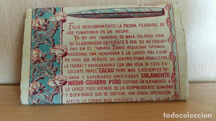 Papel de fumar: LIBRILLO DE PAPEL DE FUMAR. PAPEL CACAO - Foto 2 - 62947108