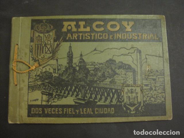 ALCOY - ARTISTICO E INDUSTRIAL -ALBUM FOTOS 1916 -MUCHA PUBLICIDAD-PAPEL FUMAR.- VER FOTOS -(V-6731) (Coleccionismo - Objetos para Fumar - Papel de fumar )