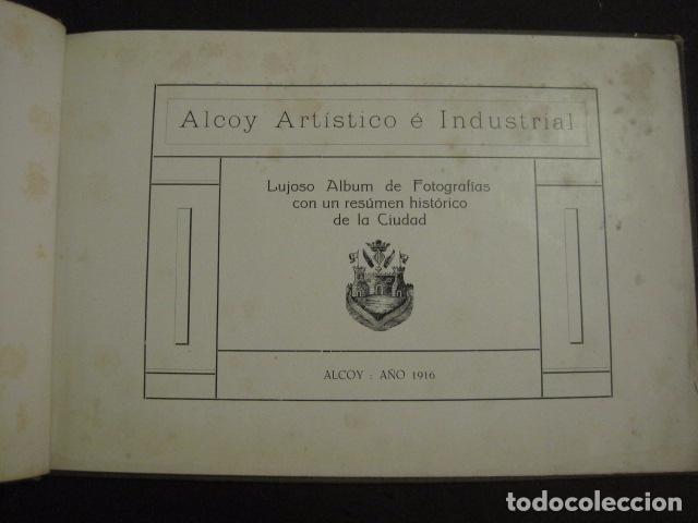Papel de fumar: ALCOY - ARTISTICO E INDUSTRIAL -ALBUM FOTOS 1916 -MUCHA PUBLICIDAD-PAPEL FUMAR.- VER FOTOS -(V-6731) - Foto 3 - 63186484