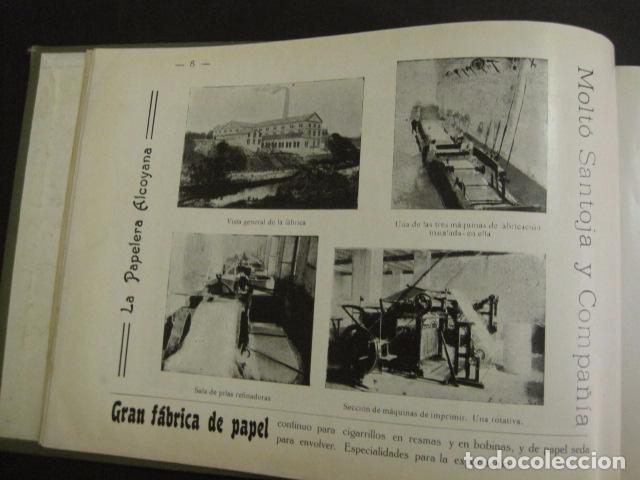 Papel de fumar: ALCOY - ARTISTICO E INDUSTRIAL -ALBUM FOTOS 1916 -MUCHA PUBLICIDAD-PAPEL FUMAR.- VER FOTOS -(V-6731) - Foto 9 - 63186484