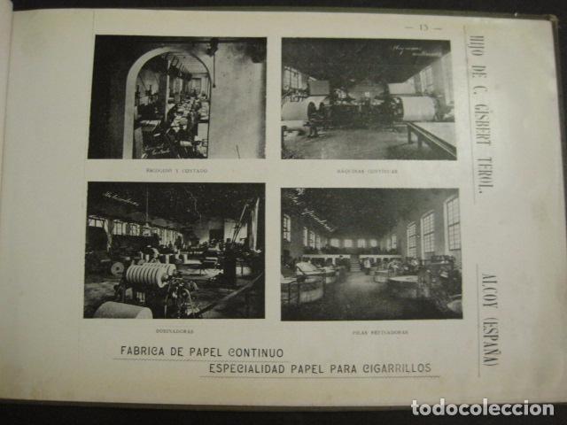 Papel de fumar: ALCOY - ARTISTICO E INDUSTRIAL -ALBUM FOTOS 1916 -MUCHA PUBLICIDAD-PAPEL FUMAR.- VER FOTOS -(V-6731) - Foto 14 - 63186484
