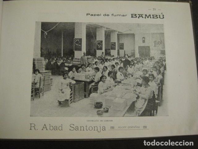 Papel de fumar: ALCOY - ARTISTICO E INDUSTRIAL -ALBUM FOTOS 1916 -MUCHA PUBLICIDAD-PAPEL FUMAR.- VER FOTOS -(V-6731) - Foto 22 - 63186484