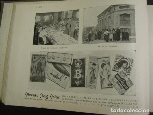Papel de fumar: ALCOY - ARTISTICO E INDUSTRIAL -ALBUM FOTOS 1916 -MUCHA PUBLICIDAD-PAPEL FUMAR.- VER FOTOS -(V-6731) - Foto 23 - 63186484