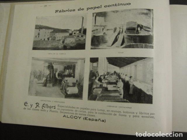 Papel de fumar: ALCOY - ARTISTICO E INDUSTRIAL -ALBUM FOTOS 1916 -MUCHA PUBLICIDAD-PAPEL FUMAR.- VER FOTOS -(V-6731) - Foto 29 - 63186484