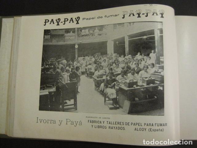 Papel de fumar: ALCOY - ARTISTICO E INDUSTRIAL -ALBUM FOTOS 1916 -MUCHA PUBLICIDAD-PAPEL FUMAR.- VER FOTOS -(V-6731) - Foto 39 - 63186484