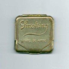 Papel de fumar: ANTIGUA FUNDA DORADA SMOKING PAPEL DE ARROZ CARTERA METAL ESTUCHE LIBRILLO DE FUMAR LIAR LATÓN PUBLI. Lote 112704678