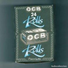 Papel de fumar: OCB ROLLS PREMIUM CAJA CON 24 PAQUETES VACÍOS ROLLO PAPEL DE FUMAR LIAR SQUARE ROLLING SMOKING PAPER. Lote 63972807