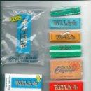 Papel de fumar: RIZLA THE ART OF ROLLING COLLECTION LOTE LIBRILLOS PAPEL DE LIAR FUMAR ORIGINAL LIQUORICE KING SIZE. Lote 63973607