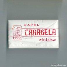 Papel de fumar: CARABELA 500 PAPEL FINÍSIMO BLOC TACO BLOQUE CON QUINIENTOS PAPELES DE FUMAR LIAR RARE ROLLING PAPER. Lote 63976375