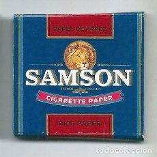 Papel de fumar: SAMSON PAPEL DE ARROZ RICE CIGARETTE ROLLING PAPER LEON FUMAR LIAR PAPIER ENROLAR LIBRILLO. Lote 63988687