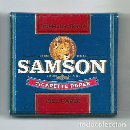 Papel de fumar: SAMSON PAPEL DE ARROZ RICE CIGARETTE ROLLING PAPER LEON FUMAR LIAR PAPIER ENROLAR LIBRILLO - Foto 2 - 63988687