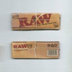 Papel de fumar: RAW ALARGADO NATURAL UNBLEACHED ROLLING PAPERS · PAPEL DE LIAR ENROLAR FUMAR PAPIER UNREFINED PAPER. Lote 63988815