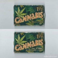 Papel de fumar: CANNABIS FLAVOURED 1,25 PAPEL DE FUMAR CON EXQUISITO AROMA A CAN?AMO MEDIDA 1 1/4 LIAR ROLLING PAPER. Lote 63988895