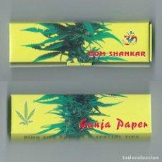 Papel de fumar: KING SIZE GANJA PAPER AND SPECIAL TIPS BOM SHANKAR PAPEL DE FUMAR GRANDE XXL LIAR CANNABIS MARIHUANA. Lote 63989319