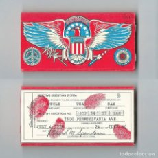 Papel de fumar: UNCLE SAM PATRIOTIC ROLLING PAPER CO. INC USA PAPEL DE FUMAR LIAR ENROLAR U.S.A. 25 ¢ AMERICAN EAGLE. Lote 63989727