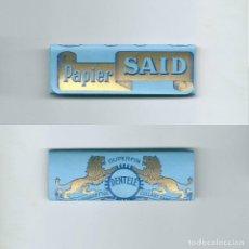 Papel de fumar: SAID PAPIER SUPERFIN CIGARETTES DENTELE COLLANT SANS GOMME ROLLING PAPER · LIBRO PAPEL DE FUMAR LIAR. Lote 63989791