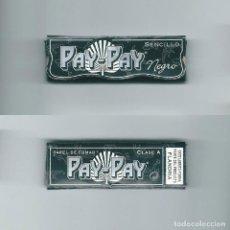 Papel de fumar: PAY-PAY NEGRO SENCILLO PAPEL DE FUMAR CLASE A FLANDRIA LIBRILLO PARA LIAR TABACO ROLLING PAPER BOOK. Lote 63989851