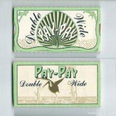 Papel de fumar: PAY-PAY DOUBLE WIDE LIBRILLO DOBLE NUEVO ROLLING PAPER FLAMENCO PAPEL DE FUMAR LIAR PAPIER FLAMINGO. Lote 63989883
