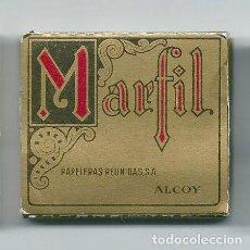 Papel de fumar: MARFIL ORO BONITO LIBRILLO ANTIGUO DE PAPELERAS REUNIDAS ALCOY ROLLING PAPER PAPEL FUMAR LIAR NUEVO. Lote 63990299