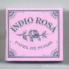 Papel de fumar: INDIO ROSA PAPEL DE FUMAR MARCA REGISTRADA ROLLING PAPER BONITO ANTIGUO LIBRILLO PAPIER LIAR SMOKING. Lote 148947652
