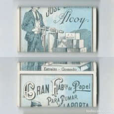 Papel de fumar: LA BASCULA ESTREITO GOMADO JOSE LAPORTA ALCOY PAQUETE LIBRILLO DE PAPEL FUMAR LIAR COMPLETO Y NUEVO. Lote 63990483