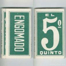 Papier à rouler: EL QUINTO 5º PAPEL DE HILO PURO HIJO C. GISBERT TEROL ALCOY LIBRILLO ROLLING PAPER PAPEL FUMAR NUEVO. Lote 63990571