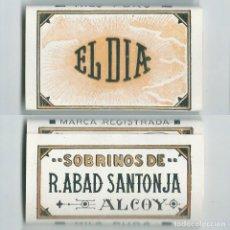 Papel de fumar: EL DIA · SOBRINOS DE R. ABAD SANTONJA ALCOY LIBRILLO ROLLING PAPER PAPEL DE FUMAR LIAR PAPIER NUEVO . Lote 63990603