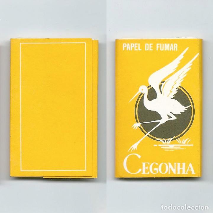 CEGONHA AMARILLO PAPEL DE FUMAR EN- GOMADO LIBRILLO ROLLING PAPER LIAR PAPIER ENROLAR NUEVO COMPLETO (Coleccionismo - Objetos para Fumar - Papel de fumar )