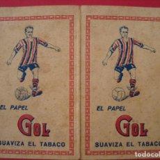 Papel de fumar: PUBLICIDAD PAPEL DE FUMAR. PAPEL GOL. 1929. Lote 64371955