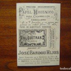 Papel de fumar: PAPEL DE ALQUITRAN NORUEGO DE JOSE BARDOU E HIJOS - BONITA CROMOLITOGRAFÍA CON PUBLICIDAD. Lote 66993538