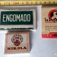 Papel de fumar: LOTE DE LIBRILLO LLENO DE PAPEL DE FUMAR Y LIBRILLO PAPEL LIMPIAR CRISTALES DE GAFAS ANTIGUOS. Lote 71942243