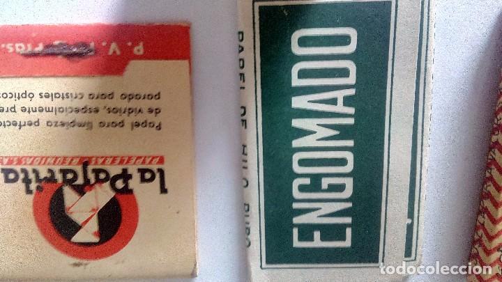 Papel de fumar: LOTE DE LIBRILLO LLENO DE PAPEL DE FUMAR Y LIBRILLO PAPEL LIMPIAR CRISTALES DE GAFAS ANTIGUOS - Foto 7 - 71942243