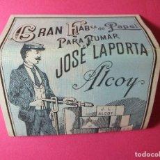 Papel de fumar: LIBRITO LIBRILLO DE PAPEL DE FUMAR LA BASCULA JOSE LAPORTA ALCOY VALENCIA. Lote 73577963