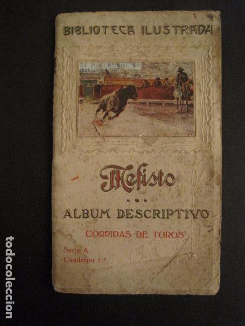 ALBUM PAPEL DE FUMAR MEFISTO - CORRIDA DE TOROS - COMPLETO -VER FOTOS - (V-9593) (Coleccionismo - Objetos para Fumar - Papel de fumar )