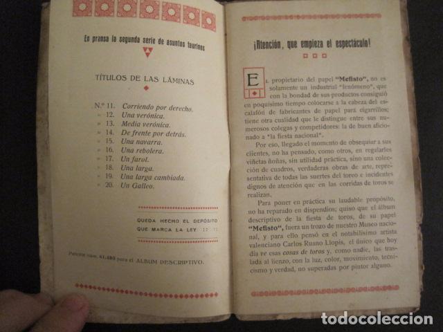 Papel de fumar: ALBUM PAPEL DE FUMAR MEFISTO - CORRIDA DE TOROS - COMPLETO -VER FOTOS - (V-9593) - Foto 3 - 79165941