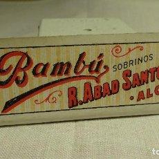 Papel de fumar: LIBRITO PAPEL DE FUMAR ALARGADO BAMBU R ABAD SANTONJA ALCOY. Lote 80402545