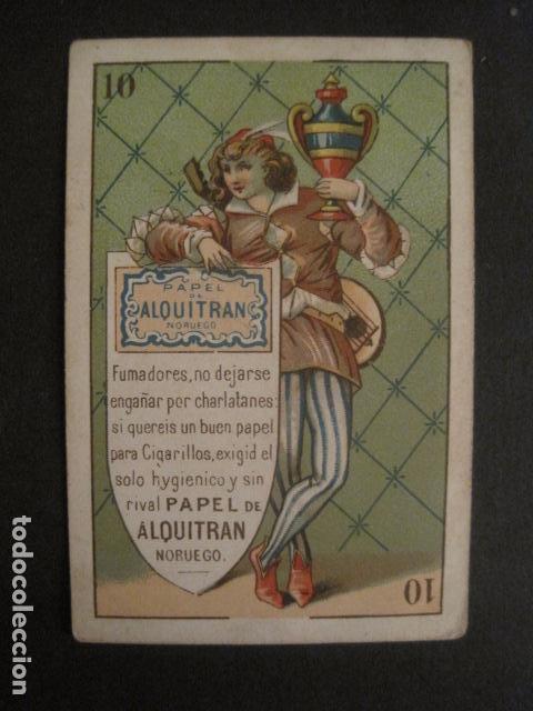 PAPEL DE FUMAR ALQUITRAN NORUEGO - NAIPE PUBLICIDAD- 10 COPAS -VER FOTOS -(V- 10.095) (Coleccionismo - Objetos para Fumar - Papel de fumar )