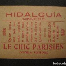 Papel de fumar: PAPEL FUMAR HIDALGUIA-LE CHIC PARISIEN-HIDALGO- CROMO REDOMA ENCANTADA 24-VER FOTOS - (V- 10.184). Lote 81559968