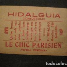 Papel de fumar: PAPEL FUMAR HIDALGUIA-LE CHIC PARISIEN-HIDALGO-BARCELONA- CROMO LA DOLORES 18 -VER FOTOS-(V- 10.191). Lote 81561316