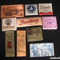 Papel de fumar: LOTE DE 10 LIBRILLOS DE PAPEL DE FUMAR ANTIGUOS. Lote 191641656
