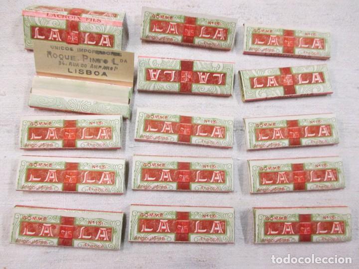 Papel de fumar: 15 LIBRILLOS PAPEL DE FUMAR FRANCESES AÑOS 40/50 LACROIX FILS LA LA - SMOKING PAPER - Foto 2 - 82026188