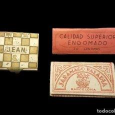 Papel de fumar: ANTIGUA CAJA DE TABACO JEAN, PAPEL DE FUMAR PAYÁ, Y JARAMAGO VALADIA. Lote 83244464