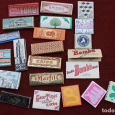Papel de fumar: LOTE 22 LIBROS DE PAPEL DE FUMAR, ANTIGUOS. Lote 83858428