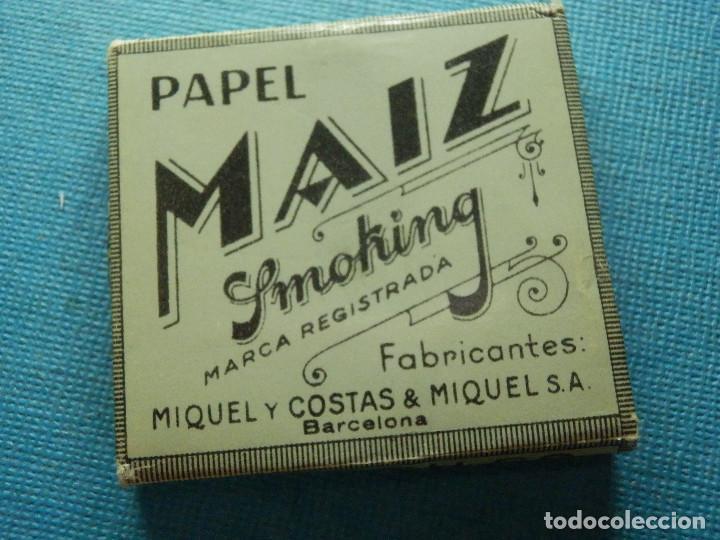 Papel de fumar: LIBRILLO DE PAPEL DE FUMAR - PAPELILLOS LIAR TABACO - MAIZ - MIQUEL Y COSTAS - COLECCIÓN - Foto 3 - 84507704