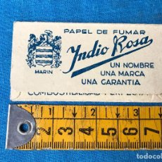 Papel de fumar: LIBRO DE PAPEL DE FUMAR INDIO ROSA - MARIN - MODELO RARO. Lote 109029110
